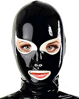Latex Hood with Cat Eyes
