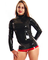 Ladies' Long Sleeved Fitted Latex Shirt