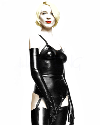 Latex Corset with suspenders
