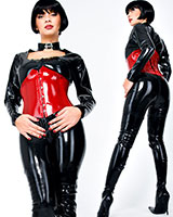Glued Latex Catsuit with 3 Way Zipper