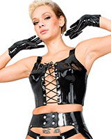 Laced Latex Bustier