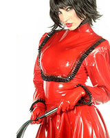Glued Latex Governess Blouse