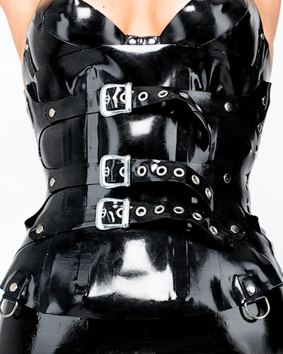 Glued 1mm Latex Corset with Buckles