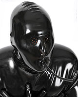 Latex Hood with Eyes Perforations and Breathing Tube