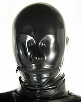 Anatomical Latex Hood - 0.6 mm - with Mouth Zipper