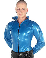 Latex Shirt with Front Zipper