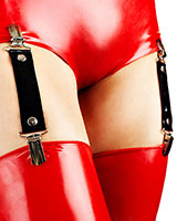 Latex Suspenders with Clips