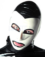 Latex Mephisto Hood with Eyes and Mouth Openings