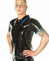 Latex Poloshirt - Olive with Black