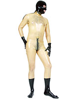 Glued Latex Catsuit with 3 Way Zip and Shoulder Zippers