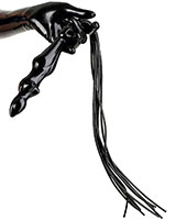 Latex Whip with Female Body Handle and 9 Tails