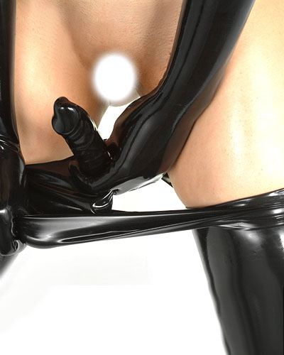 Latex Brief with Cock Shaped Dildo