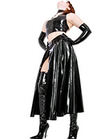 Glued Latex Swinger Skirt