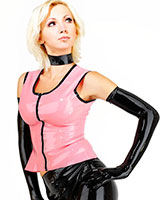 Zipped Latex Top