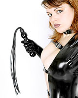 Latex Sauna Whip with 8 Tails