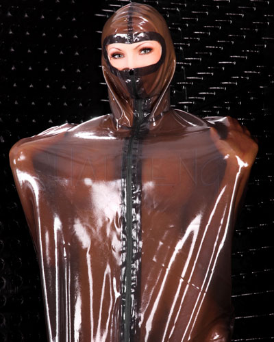 Rubber Bondage Body Bag with Hood
