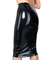Latex Midi Skirt - also Available with Slit and Zipper