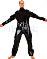 Glued 1.0 mm Latex Wide Suit with 3 Way Zipper Through Crotch