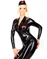 Glued Latex Military Style Catsuit