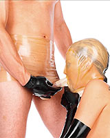Latex Blow Job Briefs with Hood