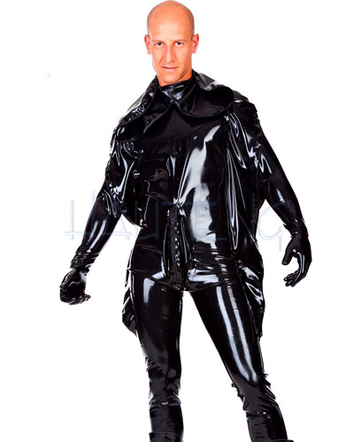 Men\'s Latex Punishment Suit with Hood