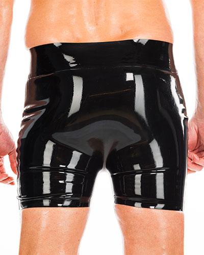 Latex Carpenter\'s Shorts with 2 Front Zippers