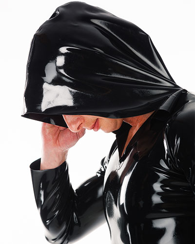Hooded Latex Shirt - Up to Size 3XL