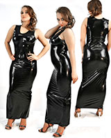 Anatomical Moulded Long Latex Dress