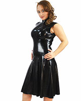 Anatomical Moulded High Neck Latex Dress - up tp 2XL