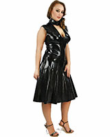 Anatomical Moulded Plunged Latex Dress - up to Size XXL