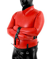 Heavy Rubber Latex Straight Jacket - 0.9 mm - also as Lockable