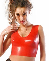 Anatomical Red Latex Bustier