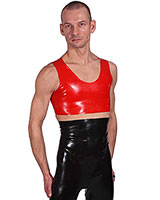 Anatomical Extra Short Latex Tank Top