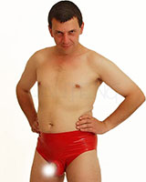Anatomical Latex Briefs with Erection Ring and Options