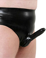 Anatomical Moulded Latex Brief with Sheath and Options