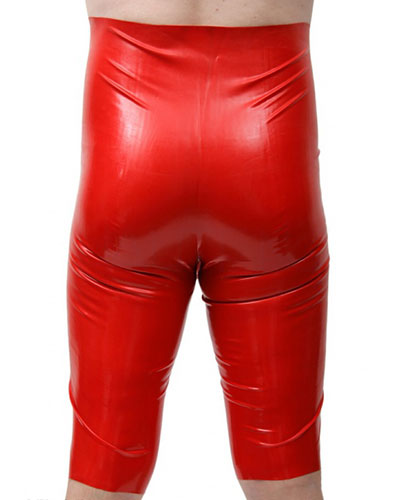 Anatomical High Waisted Enema Latex Bermuda with Anal Options