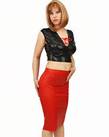 Anatomical Latex Pencil Skirt - also with Slit