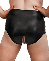 Anatomical Latex Briefs with Pouch and Back Crotch Opening