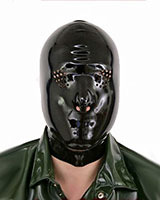 Latex Hood with Eyes Perforations