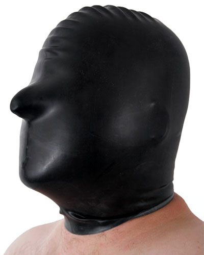 Latex Hood with No Openings - also with Back Zipper