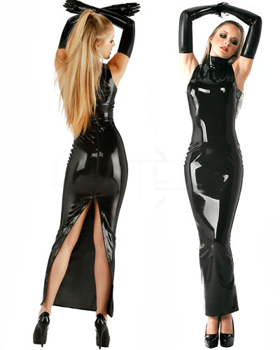 meerjungfrauenkleid hobble dress aus geklebtem latex. Black Bedroom Furniture Sets. Home Design Ideas
