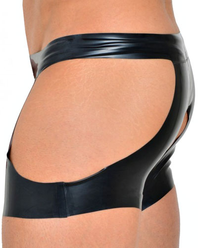 Latex-Shorts Ouvert