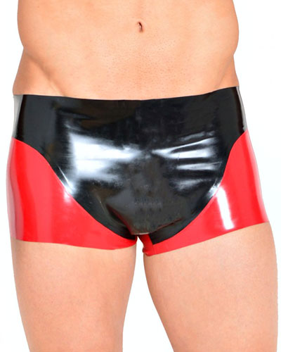 Glued Latex Two-Tone Panel Boxers
