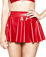 Glued Rubber Skating Skirt - Red or Black
