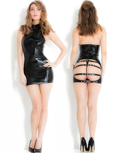 Glued Latex Spanking Dress