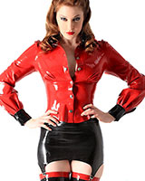 Glued Latex School Mistress Blouse - up to 4XL