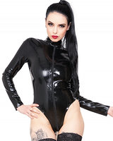 Domina-Body aus geklebtem Latex mit 2-Wege-Zipper