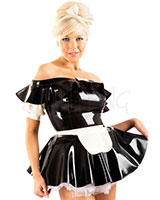Glued Latex Parisian Maid Set