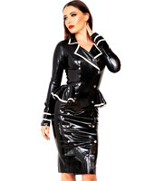 Glued Latex Jubilee Jacket Dress