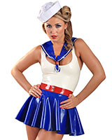 Sexy Sailor Set aus geklebtem Latex